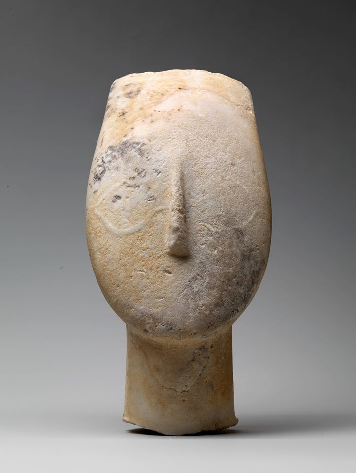 marble head from figure of a woman
