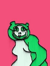 Green Panda Logo Bree 2008 an early example of my drawing before i knew i wanted to draw, drawn on Corel Photo House