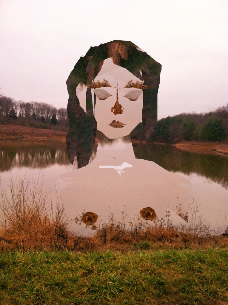 Pink Milk Pond Bree 2.6.16 Collage made from a single photograph on Paint