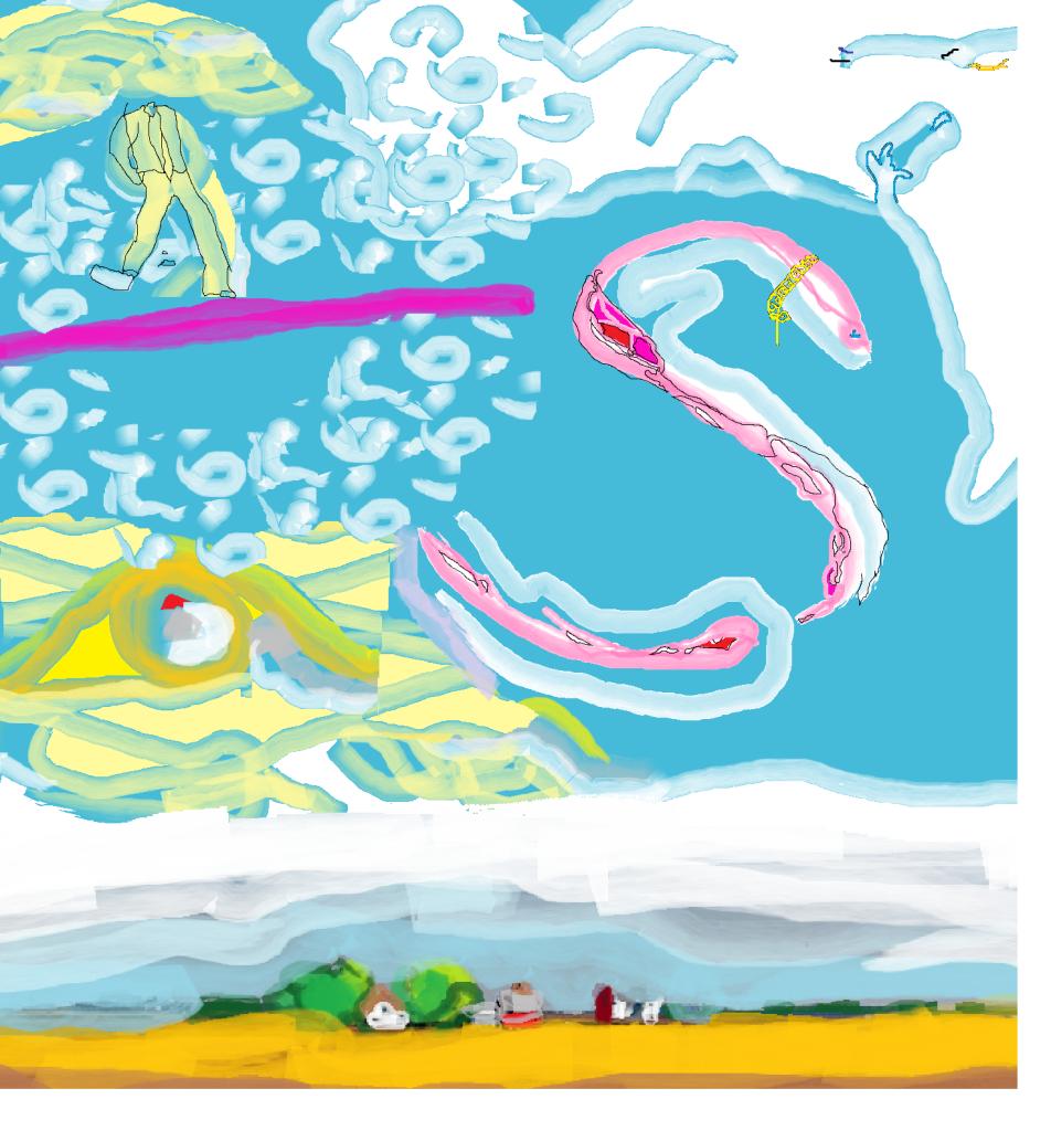 Pleasureville Sunset Bree 1.6.15 drawn on Paint