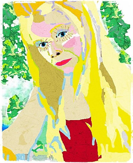 Lil Miss King Bree 6.12.14 Drawn on Paint, enhanced with Fotor